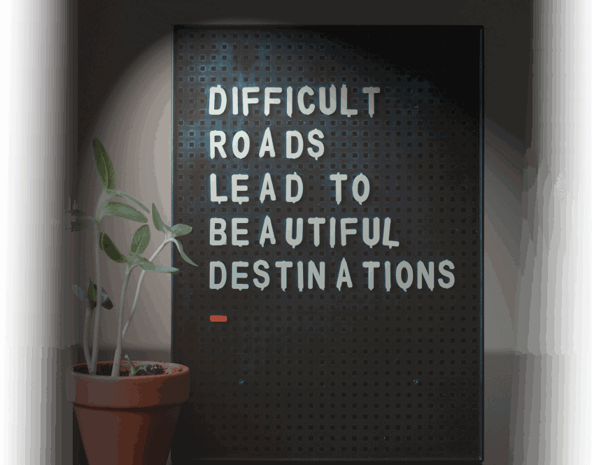 Difficult Roads sign